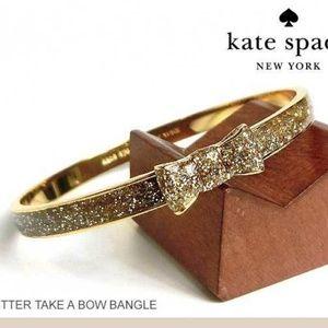 Kate Spade Glitter Take A Bow Bangle